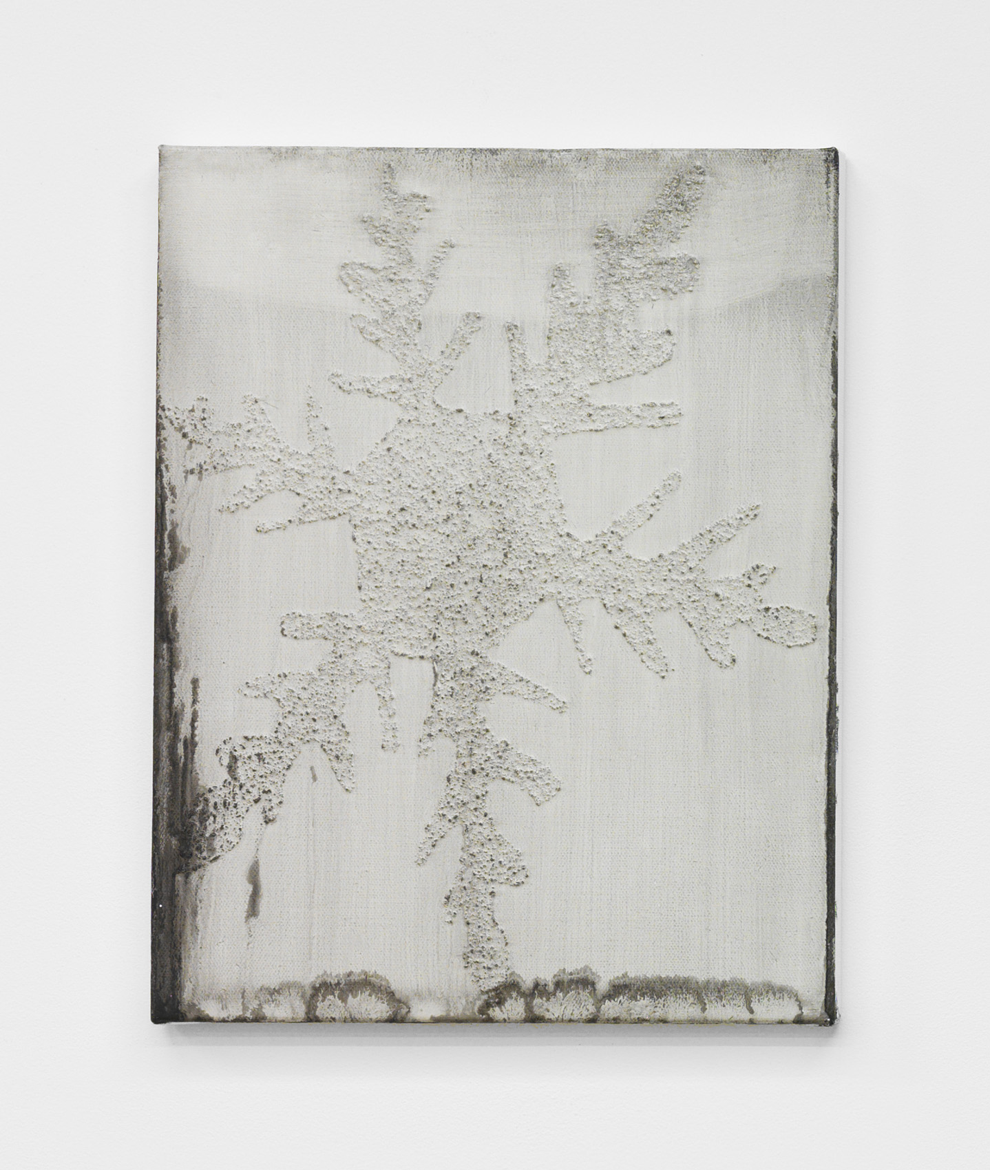 Alex Kwartler, Snowflake (I'm Nobody! Who are you?, for MA, 2018, oil and pumice on canvas, 14h x 11w in.