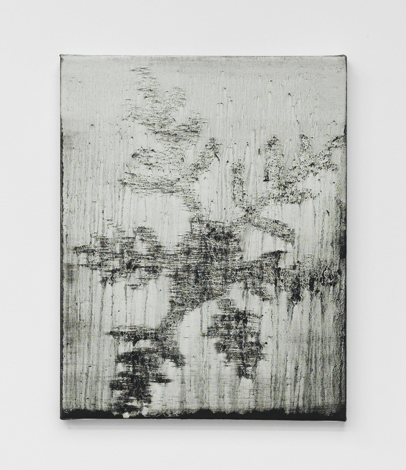 Alex Kwartler, Snowflake (To the Harbormaster, for ML), 2018, oil and pumice on canvas, 14h x 11w in.