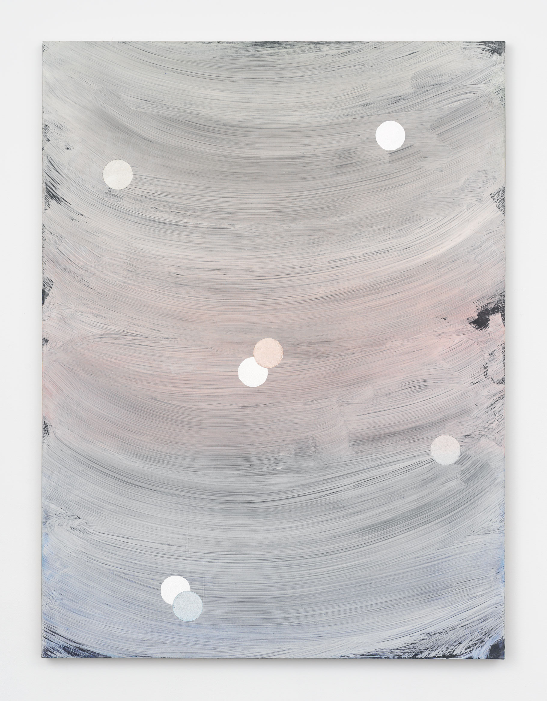 Alex Kwartler, Untitled, 2019, oil and plaster on canvas, 48h x 36w in.