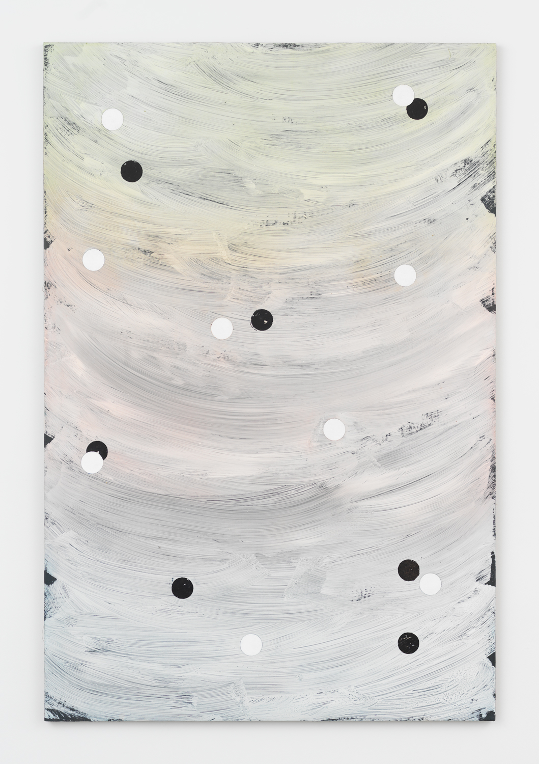 Alex Kwartler, Untitled, 2019, plaster, acrylic, and oil on linen, 72h x 48w in.