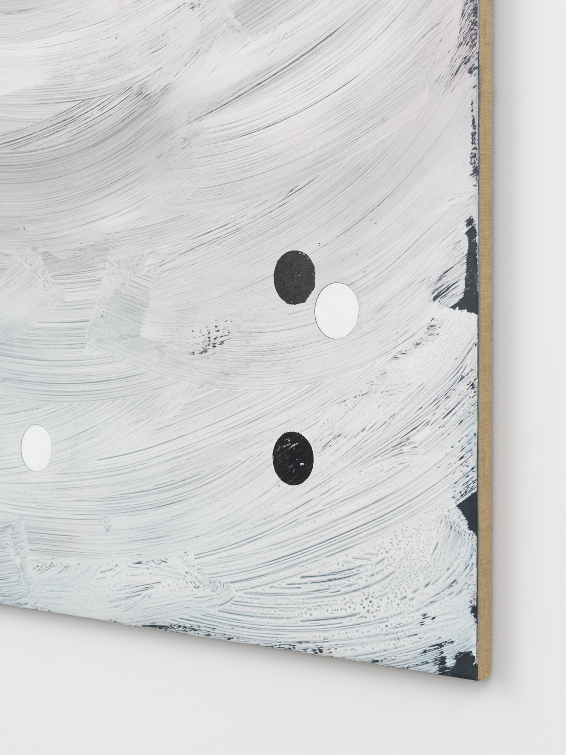Alex Kwartler, Untitled (detail), 2019, plaster, acrylic, and oil on linen, 72h x 48w in.