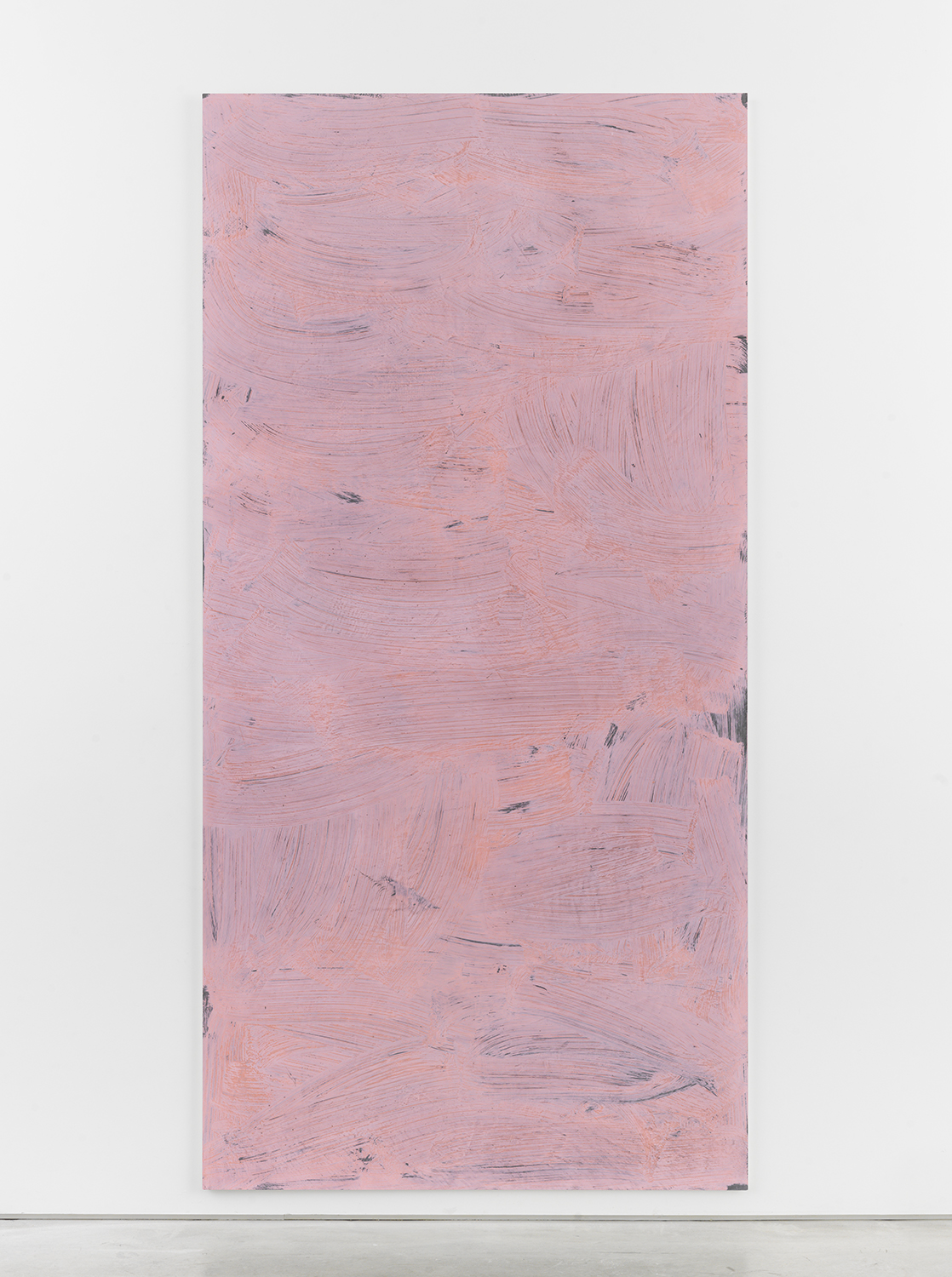 Alex Kwartler, Untitled, 2016, pigmented plaster on plywood, 96 x 48 in.
