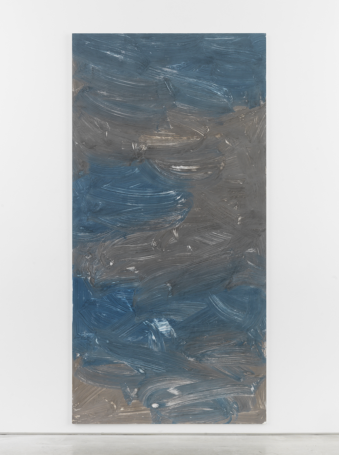Alex Kwartler, Untitled, 2016, pigmented plaster on plywood, 96h x 48w in.
