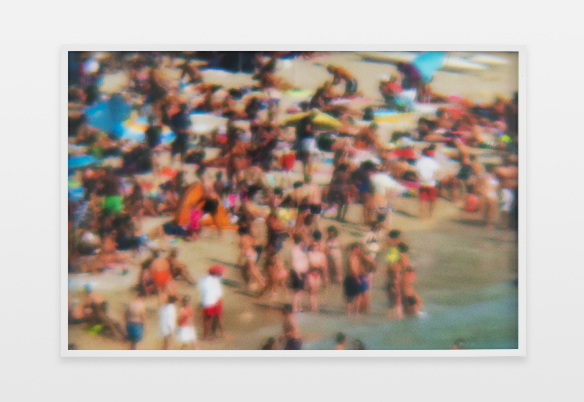 Barbara Ess, Beach (from Balcony), 2016-2019, archival pigment print, 26.63h x 39.88w in.