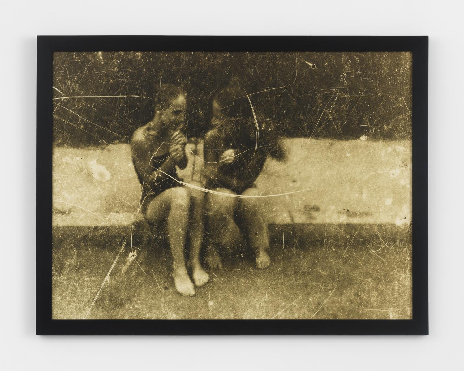 Barbara Ess, Girls on Curb, 1983, C-Print, 30h x 40w in.