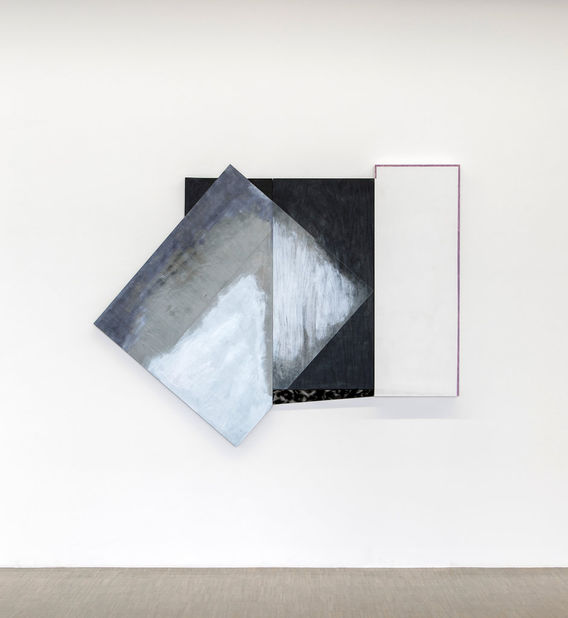 Don Dudley, #29, 2014, 2 panels, acrylic on plywood, 59h x 59w x 3d in.