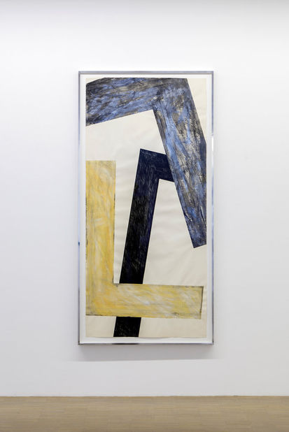Don Dudley, Untitled, 1984-85, pastel, oil stick and japan varnish on paper, 36h x 78w in.