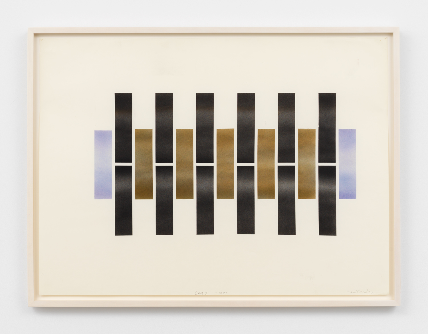 Don Dudley, Cam I, 1973, airbrush ink on paper, 23h x 29w in.