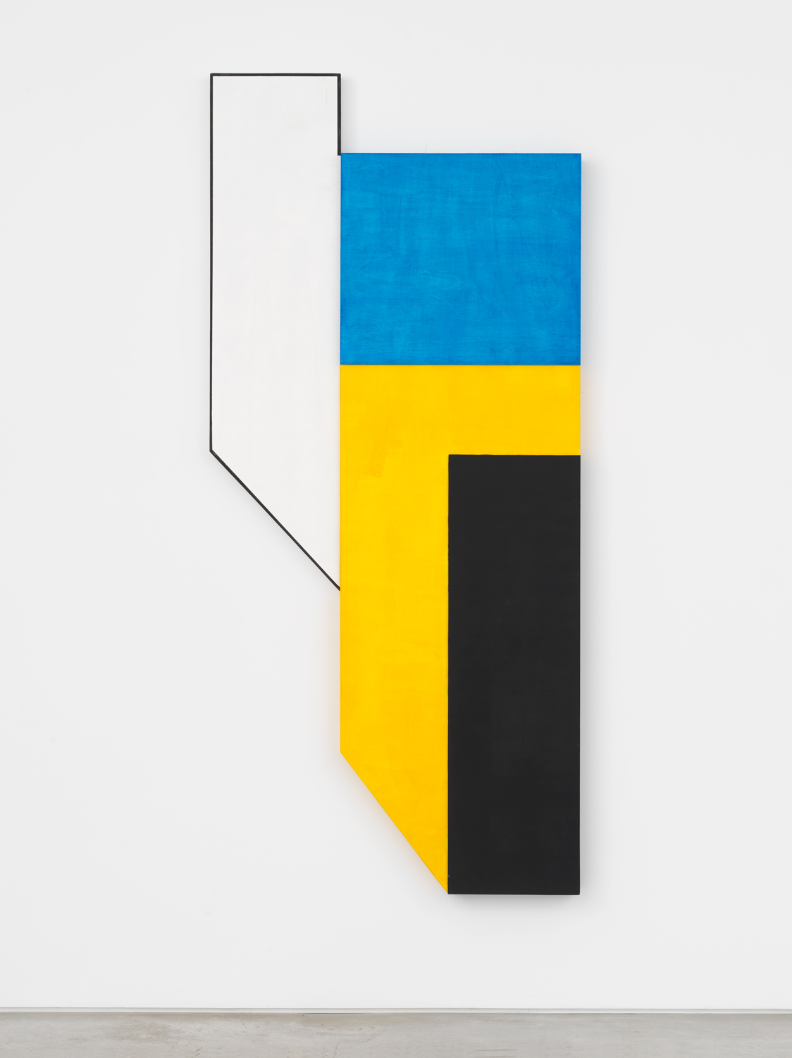 Don Dudley, #15, 2017, acrylic on birch plywood, 74h x 33.5w x 3d in.