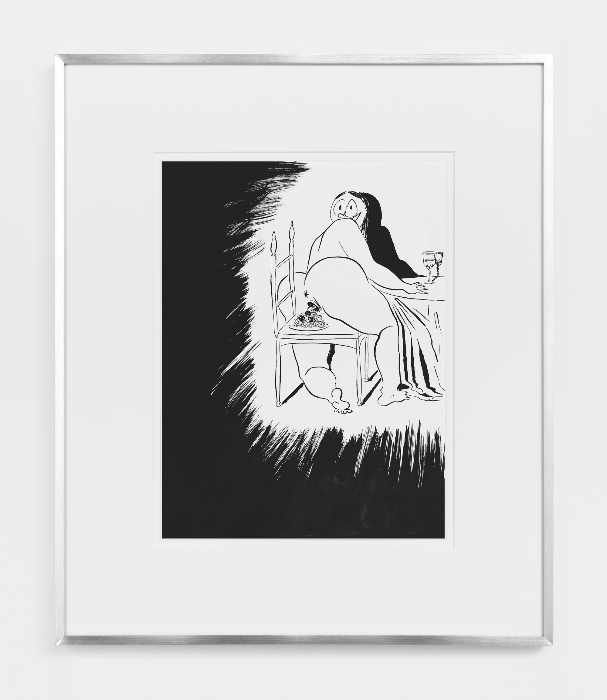 Ebecho Muslimova, Fatebe Surprise, 2019, Sumi ink on paper, 12h x 9w in.