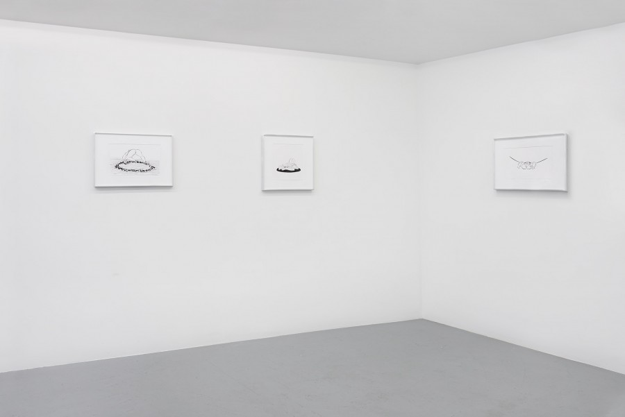 Installation view, Ebecho Muslimova, ROOM EAST, New York, NY, 2015
