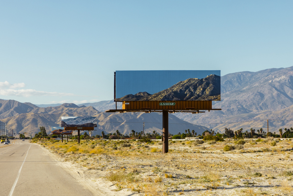 Jennifer Bolande, Visible Distance / Second Sight, 2017, Site-specific project, produced by Desert X, in Palm Springs, CA, documented by Lance Gerbe