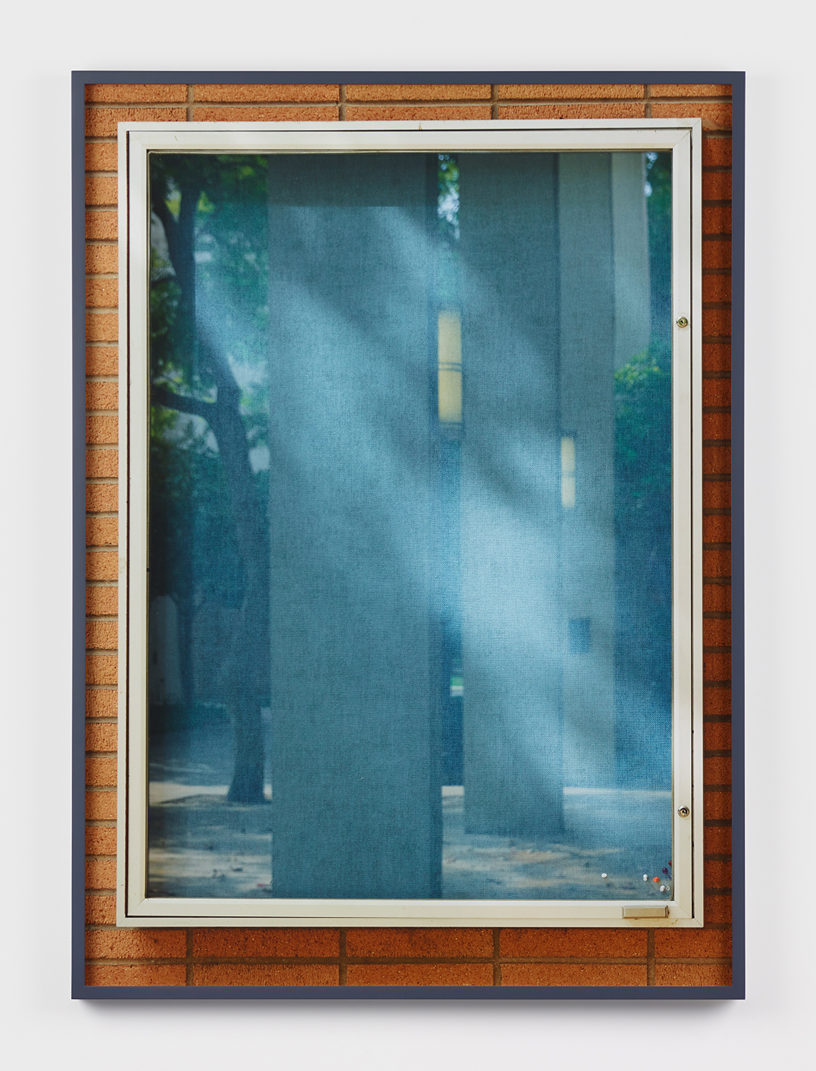 Jennifer Bolande, Bulletin Board (L) at 2:20pm, 2017, Archival Pigment Print, 36.75h x 26.50w x 1.50d in.