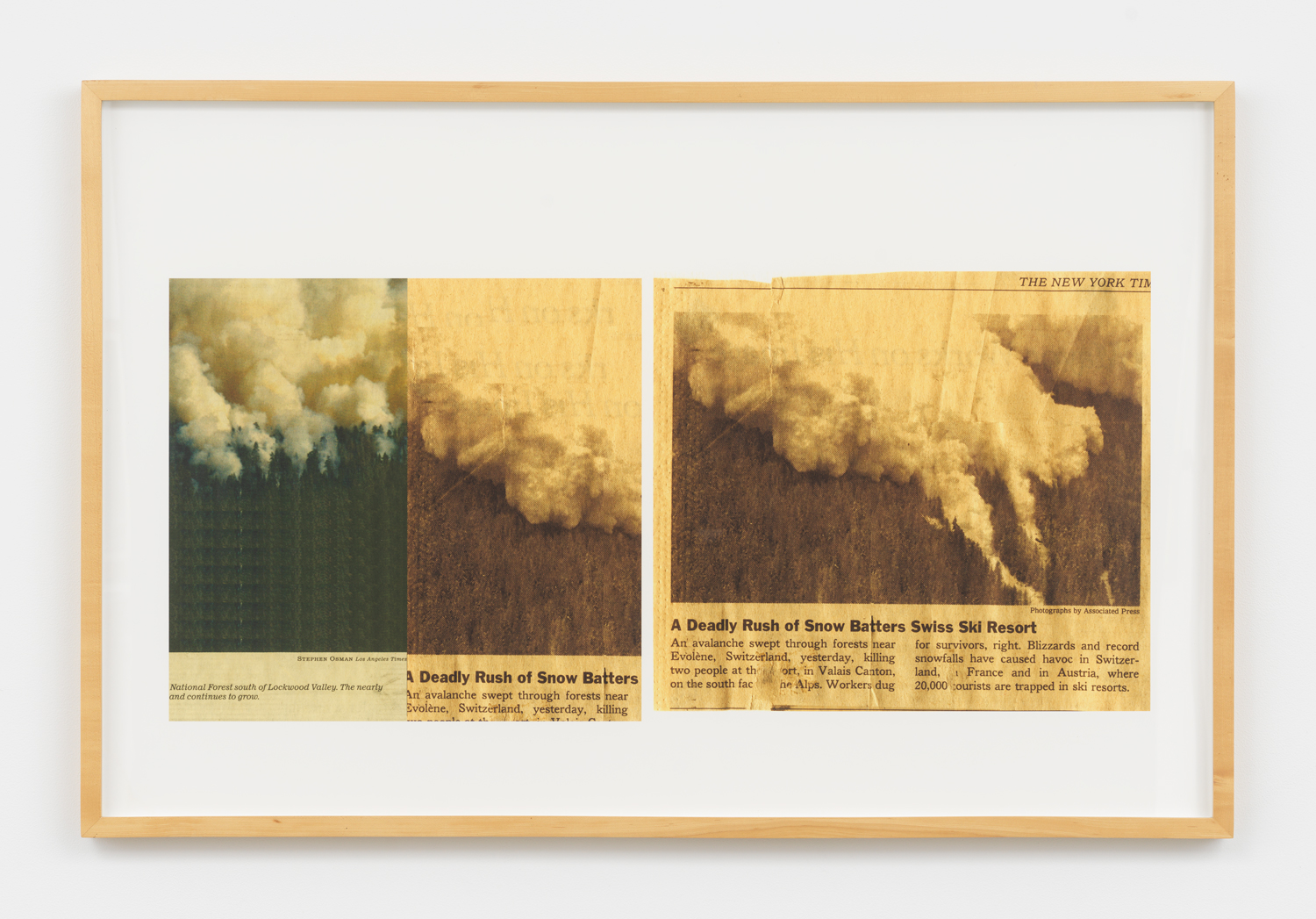 Jennifer Bolande, Smoke and Snow, 2010, Archival Pigment Print, 26h x 40w in.