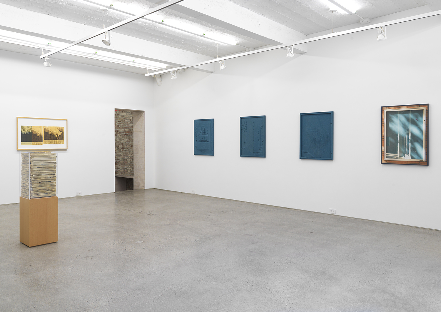Installation view, Jennifer Bolande: The Composition of Decomposition, Magenta Plains, New York, NY, 2020