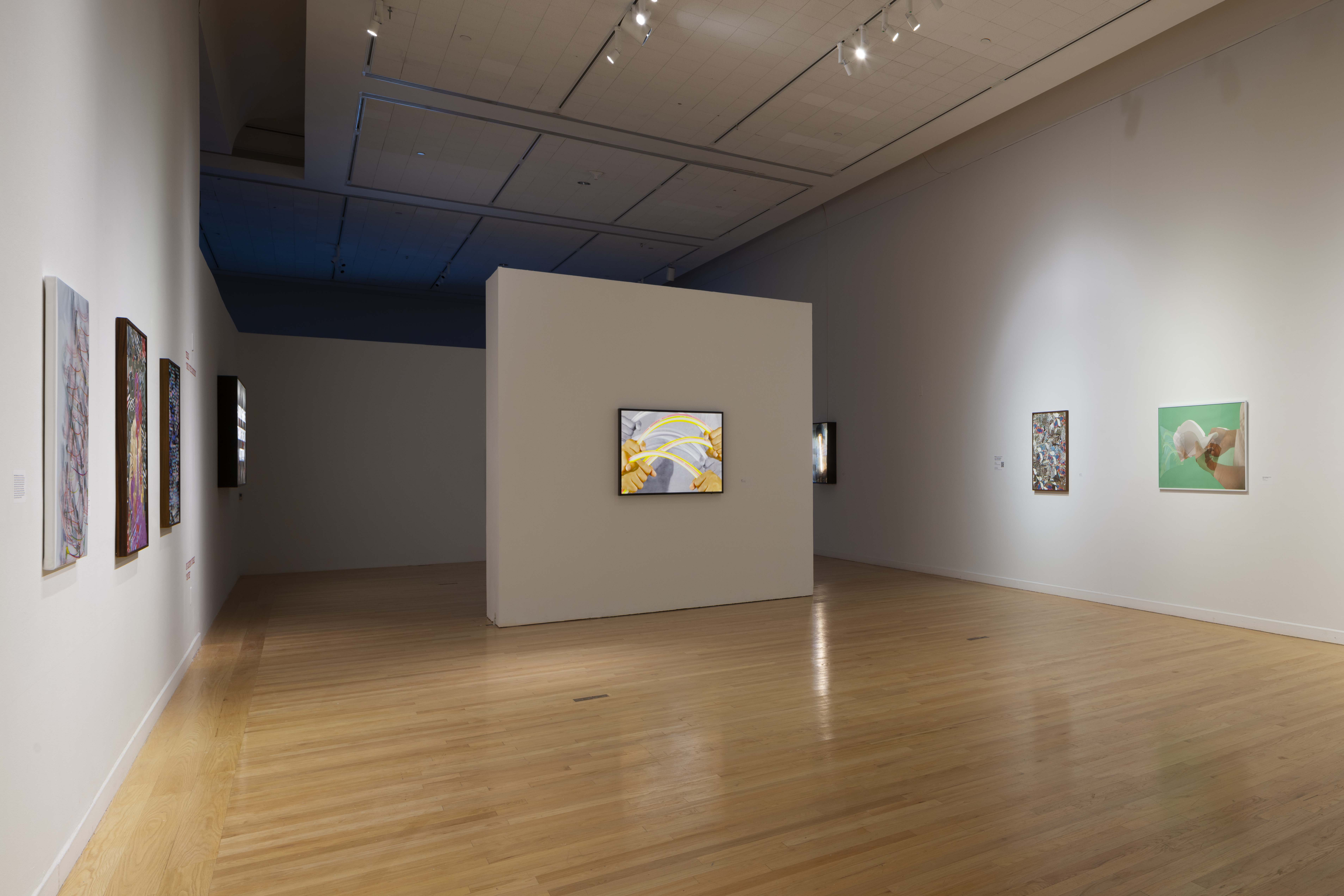 Installation view, Jibade-Khalil Huffman: Now That I Can Dance, Tufts University Art Gallery, Tufts University, Medford, MA, 2020. Photography by Peter Harris.