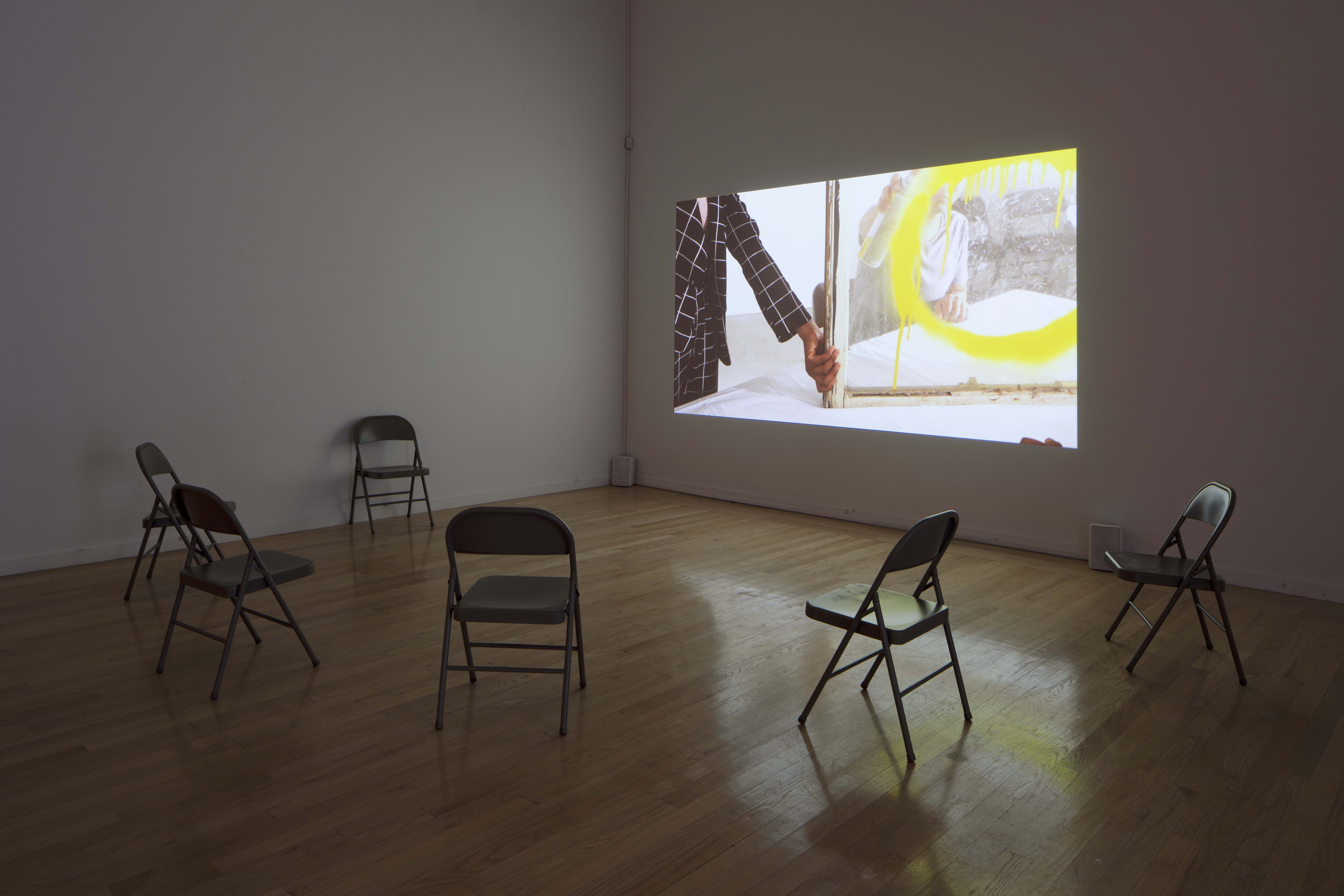 Installation view, Jibade-Khalil Huffman: Now That I Can Dance, 2021, Tufts University Art Galleries, Tufts University, Medford, MA, 2020.  Photography by Peter Harris.