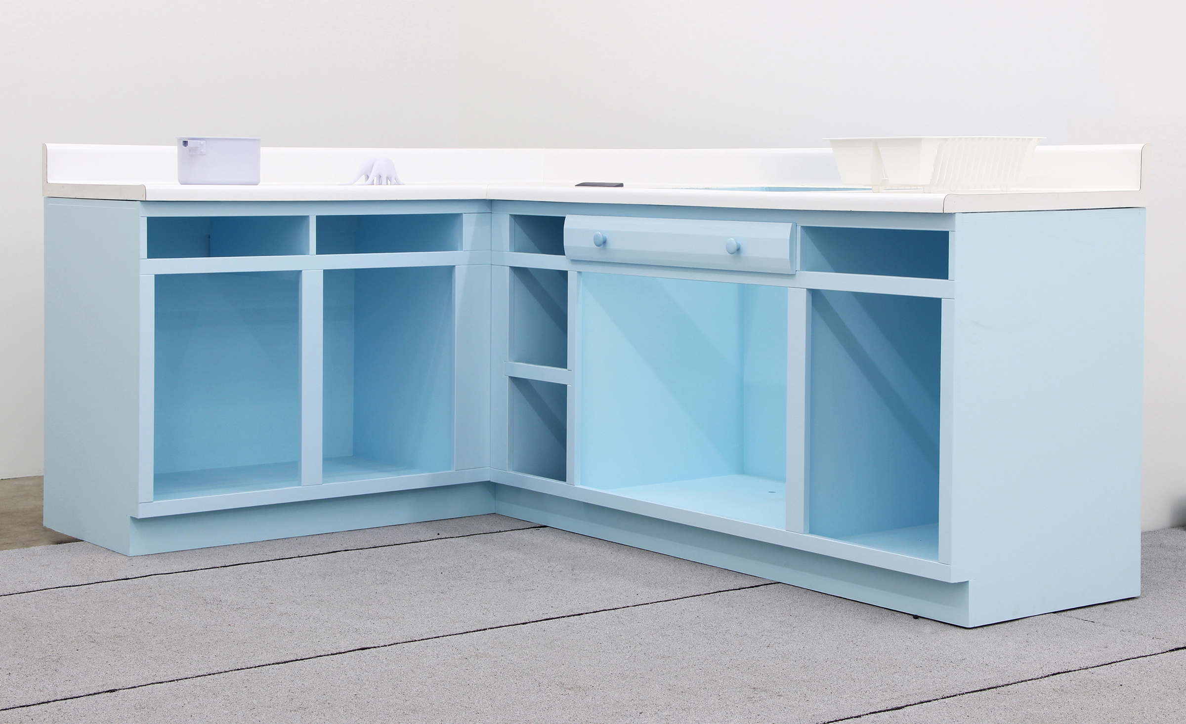 Nathaniel Robinson, Untitled, 2012, wood, paint, pigmented polyurethane resin, found countertop, 40h x 92.75w x 63.5d in.