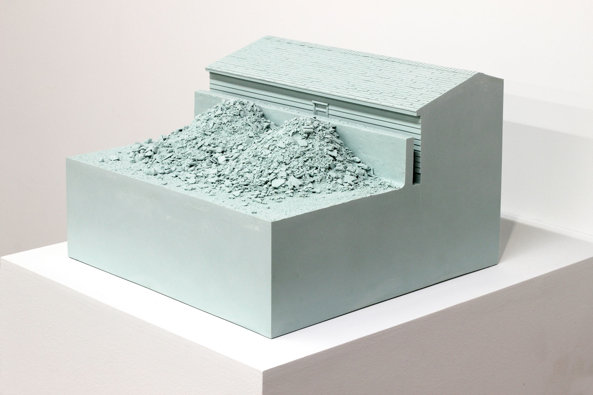 Nathaniel Robinson, Repose, 2015, pigmented polyurethane resin, 10.5h x 14w x 14d in.