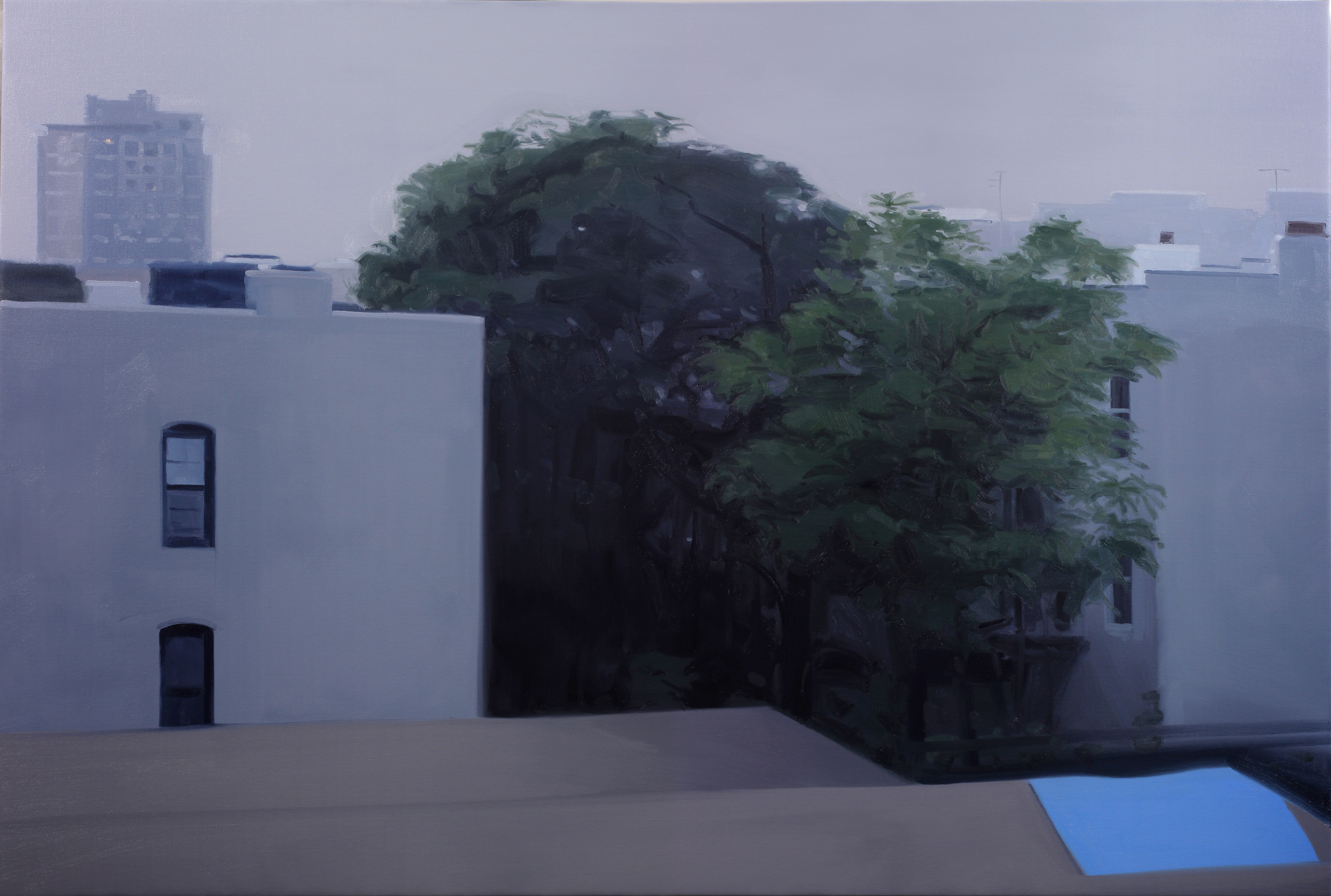 Nathaniel Robinson, Untitled, 2020, oil on canvas, 48h x 72w in.