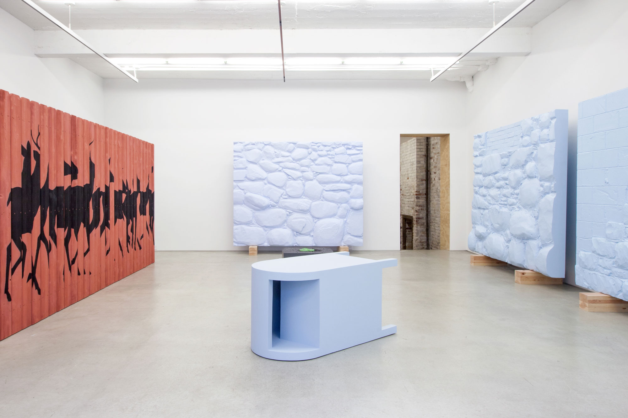Installation view, Discrete Pieces, Launch F18, New York, NY, 2016